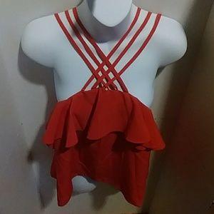 Brand New Romeo & Juliet Orange Casual Shirt